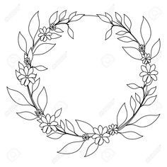 wreath of tropical flowers and leaves icon over white background vector illustration Stock Vector - 79949858 Fantasy Background, Gold Background, Background Vintage, Background Patterns, Floral Embroidery Patterns, Hand Embroidery Designs, Embroidery Art, Wreath Drawing, Floral Drawing