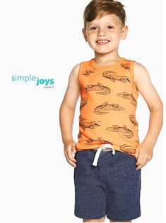 Pack of 3 Simple Joys by Carters Baby-Boys 3-Pack Knit Shorts