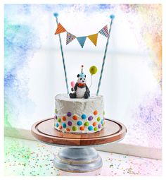 Elephant Cake Toppers, Giraffe Cakes, Safari Cakes, Panda Bear Cake, Panda Cakes, Bear Cakes, 2nd Birthday Cake Boy, 2nd Birthday Party Themes, Sweet 16