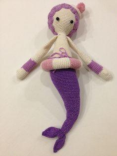 MICI the mermaid made by usako / crochet pattern by lalylala