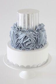 Silver #wedding #Cakes
