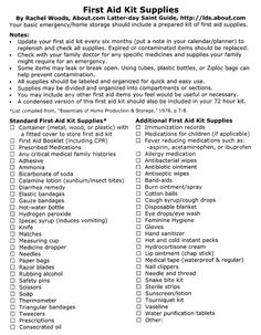 72 hour emergency kit checklist - health and beauty Emergency Preparedness Checklist, 72 Hour Emergency Kit, Emergency First Aid, Emergency Preparation, Emergency Supplies, Disaster Preparedness, Survival Prepping, Survival Gear, Survival Skills
