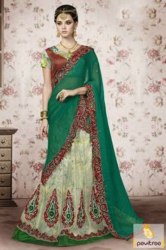 Get discount offer and deal on latest green off white designer lehenga saree. Diwali Special Discount Offer:  5% OFF FOR Buy 1 Product 10% OFF FOR Buy 2 Product 15% OFF FOR Buy 3 Product or more  Diwali Special Discount Offer:  5% OFF FOR Buy 1 Product 10% OFF FOR Buy 2 Product 15% OFF FOR Buy 3 Product or more  #saree, #designersaree, #partywearsaree, #lehenghastylesaree, #designercollection More : http://www.pavitraa.in/store/diwali-special-collection/ callus: +91-7698234040