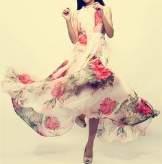 Flower Maxi dress Priliza