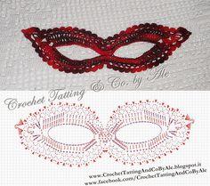 Crochet Tatting by Ale: Maschera di carnevale all'uncinetto - schema