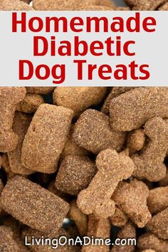 Homemade Diabetic Dog Treats Recipe - Just 3 Ingredients you already have at home!