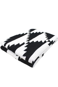 Pyramids Eco Throw- Black-White-Yellow by Happy Habitat.jpg - master room- bed or couch White Throw Blanket, Throw Pillows, Biscuit Home, Anthropologie Bedding, Santa Fe Style, White Throws, Quilt Bedding, Dot And Bo, Decoration