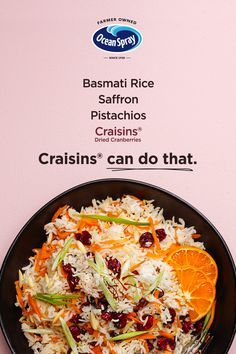 Packed with bright, zesty flavors, this Cranberry Jewled Rice is the dish your menu has been missing. Bringing citrus and crunch to your next weeknight meal? Craisins® can do that. #dinner #sidedish #simple #craisins