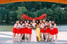 bold + bright bridesmaids | Veronica Varos #wedding