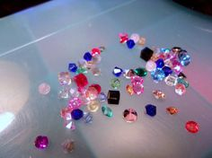 Assorted Colors of Crystal Floating Locket Charms-Memory Locket Charms-Living Locket Charms-Origami Charms-10 pieces