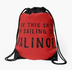 Sailing to Valinor Silmarillion / Lord of the Rings Inspired Drawstring Bag - Click Image to Buy #valinor #silmarillion #tolkien #middleearth #drawstring #bag #lotr • Also buy this artwork on bags, apparel, stickers, and more.