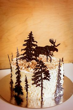 Tårta cake schwarzwald choklad chocolate älg moose födelsedag birthday ⭐sockerlinn.se⭐