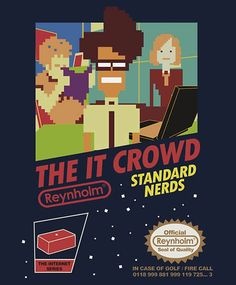 GEEKY SHIRT  – THE IT CROWD NES GAME