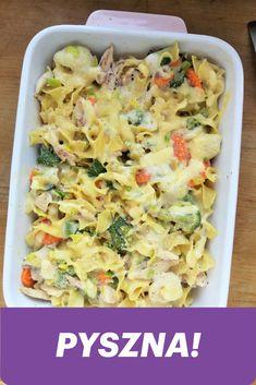 Zapiekanka makaronowa z brokułem i kurczakiem / Chicken Broccoli Pasta Bake Chicken Broccoli Pasta Bake, Pasta Salad, Potato Salad, Macaroni And Cheese, Healthy Eating, Potatoes, Baking, Ethnic Recipes, Kaftan