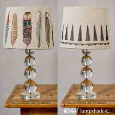 In Stitches: The Art of Embroidery via theaceofspaceblog.com / embroidered lampshades via coralandtusk.com