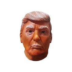 Trump and Clinton Halloween Costumes - Choose Edgy or Funny - Nex Donald Trump Mask Hillary Mask Presidential Election Presidential Candidate Mask (Donald Trump-Red)