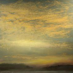 "Maurice Sapiro, ""Cumulus at Sunset"" oil on panel  24""x24"" Just amazing...."