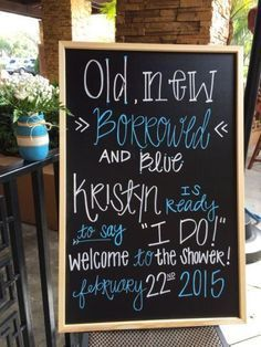 Give your bridal shower a personal touch with decorative signs. See more bridal shower ideas and proper bridal shower etiquette at www.one-stop-party-ideas.com