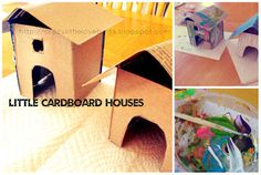 Painted cardboard houses, and baked goodies