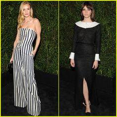 Rosie Huntington-Whiteley & Felicity Jones: Chanel Pre-Oscars ...