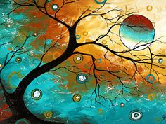 Many Moons Ago by Megan Aroon Duncanson Painting at ArtistRising.com