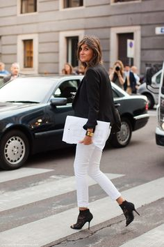 black and white outfit - streetstyle