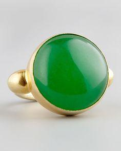 Devon Leigh Green Jade Gold Ring - Neiman Marcus