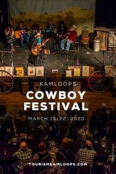 The 24th Annual Kamloops Cowboy Festival returns to the Coast Hotel March 19-22. Featuring cowboy poetry, live music, western art, dinner theatre, trade show & more. The festival is hosted by The BC Cowboy Heritage Society and is known across Canada as the Best Cowboy Festival of its kind. With a dinner and dance, entertainment, trade show, art show, evening shows, a dinner theatre, and over 20 performers.