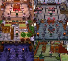 If you want to visit them here is my Dream Code: 7500 2364 Shamrock Village! If you want to visit them here is my Dream Code: 7500 2364 9142 Animal Crossing 3ds, Animal Crossing Wild World, Animal Crossing Pocket Camp, Ghibli, Pub Bar, Exterior Design, Interior And Exterior, Dream Code, Motif Acnl