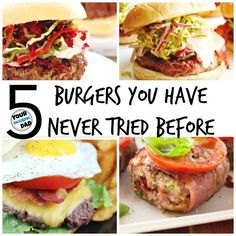 5 unique burgers you've never had before - Your Modern Dad #ad #Grillitup