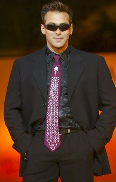 Salman in black suits