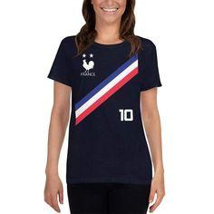 <transcy>Frankrijk voetbalshirt stijl damesshirt</transcy>