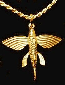 Gold Plated Fish Silver Jewelry Pendant Charm   eBay