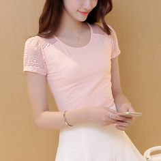 New Gentlewomen solid color t shirt lace patchwork T-shirt female summer short-sleeve puff sleeve slim sexy racerback shirt