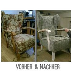 Ohrensessel wiederbelebt!  Revived Wing Chairs!