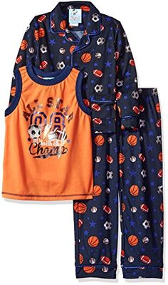 Bunz Kidz Little Boys Toddler AllStar 3 Piece Pajama Set Navy 2T -- Continue to the product at the image link.Note:It is affiliate link to Amazon.