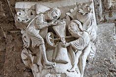 Vezelay, chapiteaux, le moulin mystique