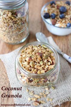 Coconut Granola Recipe | Homemade Granola Recipe | Two Peas & Their Pod