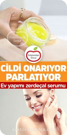 Cildi Onarıyor, Parlatıyor - Ev Yapımı Zerdeçal Serumu Homemade Skin Care, Diy Skin Care, Serum, Moisturizer For Oily Skin, Skincare Blog, Healthy Skin Care, Blackhead Remover, Fitness Motivation, Skin Brightening