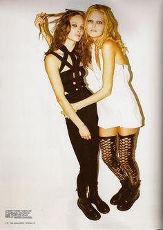 Karmen Pedaru & Charlotte Hoyer  by Magnus Unnar 10 magazine Spring 2009