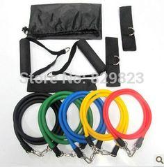 11 PCS bandes de résistance Latex Set résistance Tube bandes d'exercice…