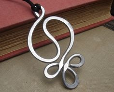 Big Yin Yang Harmony Pendant -  Light Weight Aluminum - Necklace. $12.50, via Etsy.