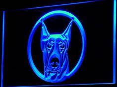 I667 B Doberman Pinscher Dog Pet Shop Neon Light Sign   eBay