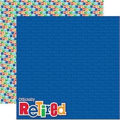 Reminisce RETIREMENT 12x12 Dbl-Sided (2PCS) Scrapbooking Papers WORK TRAVEL