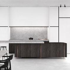 Kitchen - PS Extension in Spiere-Helkijn Belgium by AD Office: