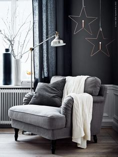 grey winter mood (via Livet Hemma – IKEA) (my ideal home.) - grey winter mood (via Livet Hemma – IKEA) (my ideal home…) grey winter mood (via Livet Hemma – IKEA) Ikea Living Room, Living Room Chairs, Home And Living, Dining Chairs, Lounge Chairs, Beach Chairs, Small Living, Ikea Chairs, Dining Rooms
