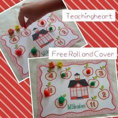 Free Back to School Dice Game - Roll and Cover www.teachingheart.net