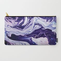 fluid acrylic, painting, abstract, effect, pink, purple, blue, drips, dripping, curve, gems, crystal, rocks, mineral rocks, minerals, sedimentary rock, purse, pencil case, clutch bag