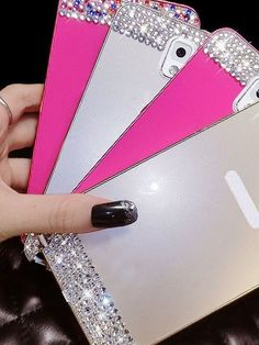 INDICATE MODEL + COLOR OR WE WILL SEND RANDOMLY  Models Available: 6, 6+  Samsung Galaxy S3, 4, 5 Note 3, 4  Mega 5.8  Colors: Silver, Gold, Pink (colorful), Pink