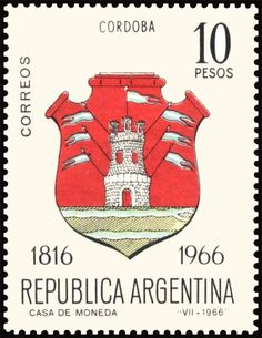 Córdoba Declaration Of Independence, Planner Template, Stamp Collecting, Coat Of Arms, Postage Stamps, Stamping, Signs, Retro, Colors